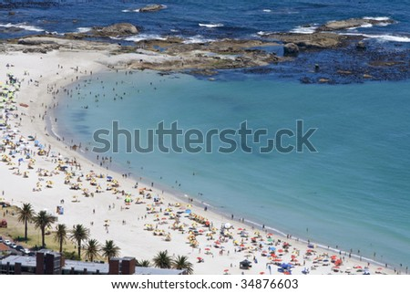 Camp's Bay near Cape Town, in the Western Province of South Africa - stock photo