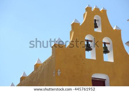 campeche mexico church - stock photo