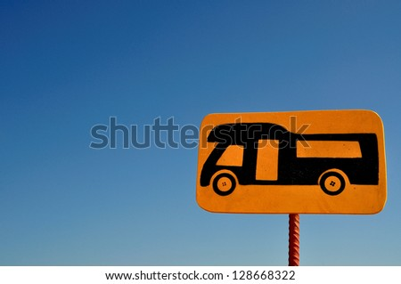 Camper sign - stock photo