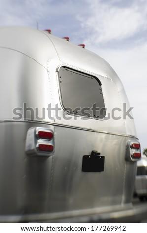 Camper travel van - stock photo