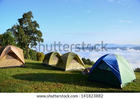 Camping. - stock photo