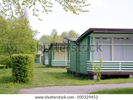 camping house - stock photo
