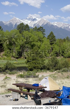 camping in colorado - stock photo