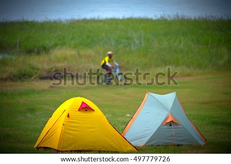 Camping tent and cycling outdoor