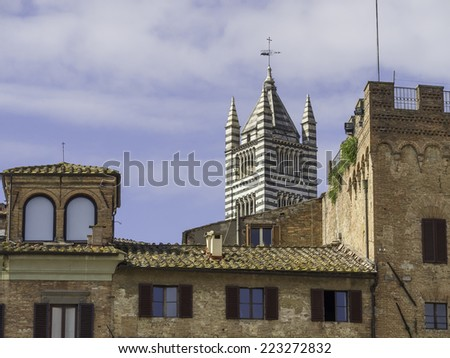 Campo Square, Siena, Tuscany, Italy - stock photo