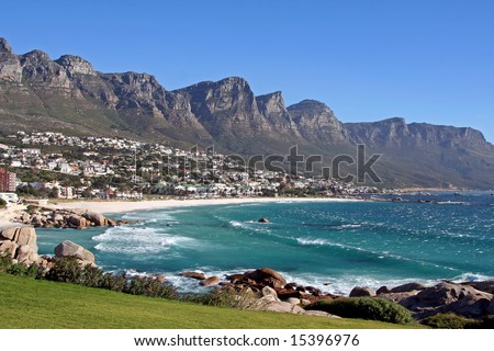 Camps Bay, Cape Town, South Africa - stock photo