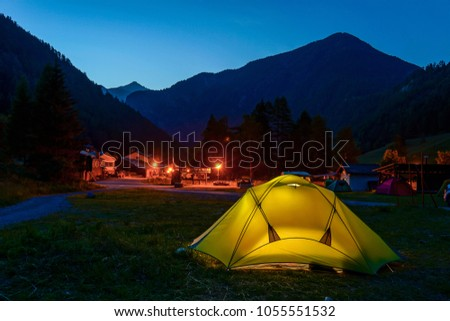 Students On Camping Tmb