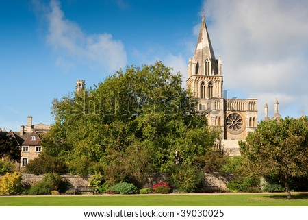 Campus of Christ Church college. Oxford, UK - stock photo