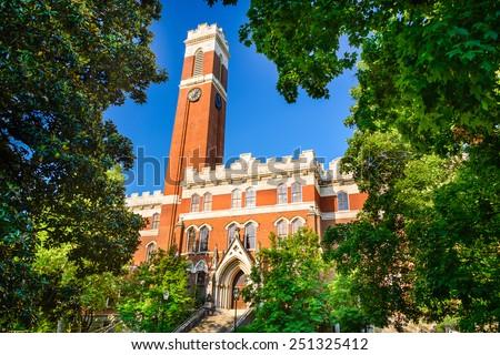 Campus of Vanderbilt Unversity in Nashville, Tennessee. - stock photo