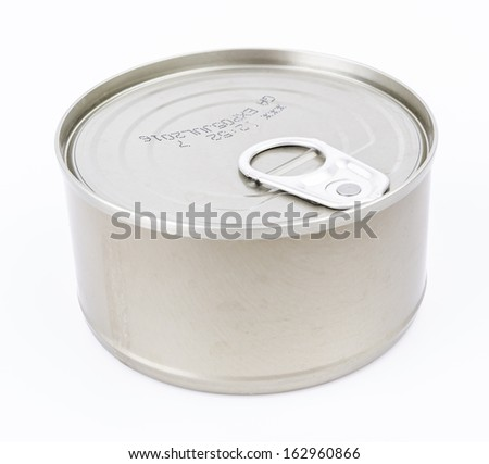 Can on white background - stock photo