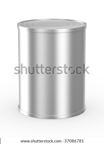 Can on white background. Isolated 3D image - stock photo