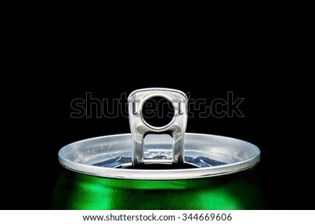 Can open Spotlight over black background - stock photo