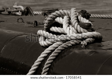can you get this knot out? - stock photo