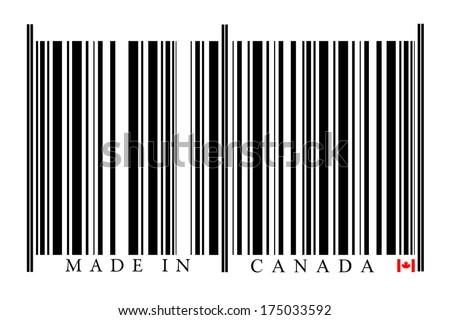 Canada Barcode on white background - stock photo