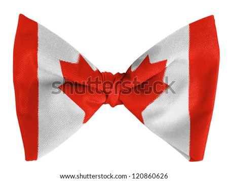 Canada. Canadian flag  on a bow tie - stock photo