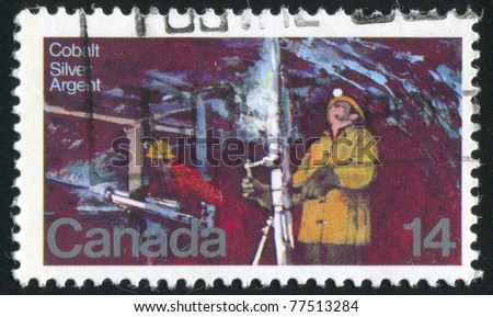 CANADA - CIRCA 1978: A stamp printed by Canada, shows Silver Mine Cobalt Lake, circa 1978