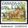 CANADA - CIRCA 1982: a stamp printed in the Canada shows Ontario Street Scene, circa 1982 - stock photo