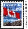 CANADA - CIRCA 1987: stamp printed by Canada, shows Canadian flag, circa 1987 - stock photo