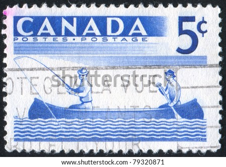 CANADA - CIRCA 1957: stamp printed by Canada, shows Fishing, circa 1957