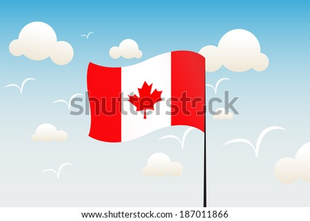 canada day flag - stock photo
