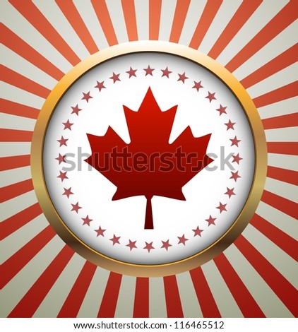 Canada Day vector background - stock photo