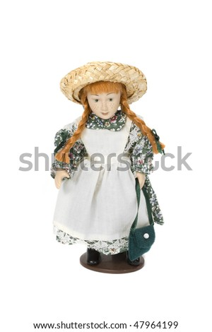 canada doll with traditional clothes - stock photo