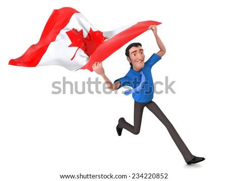 Canada flag  - stock photo