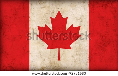 Canada flag background - stock photo