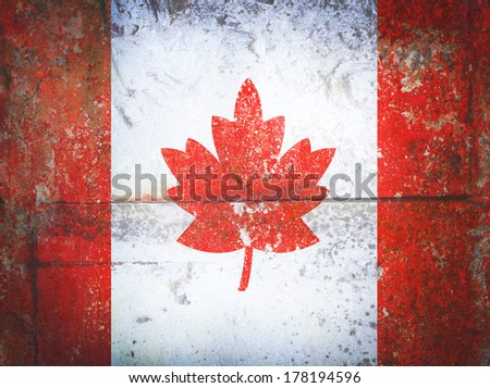 Canada flag grunge vintage retro style - stock photo
