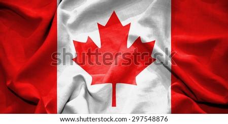 Canada flag. illustration - stock photo