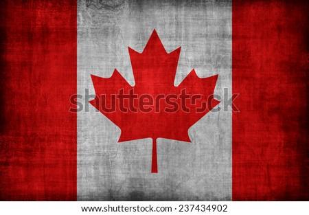 Canada flag pattern,retro vintage style - stock photo