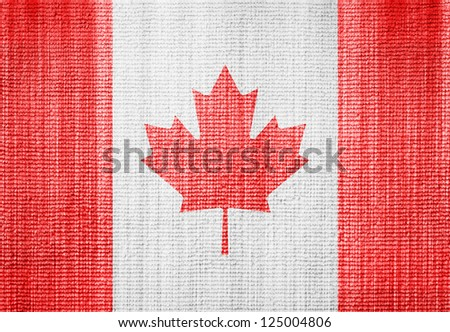 Canada flag towel texture as a background - stock photo