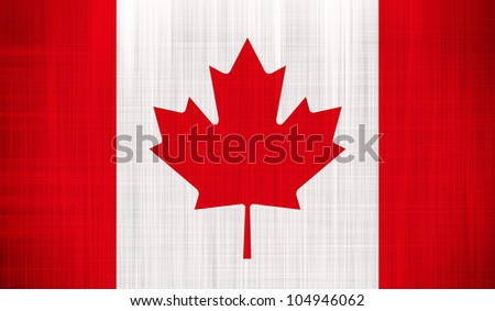 Canada Flag with a fabric texture - stock photo