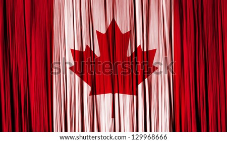 Canada Flag with a folded fabric graphic texture - stock photo