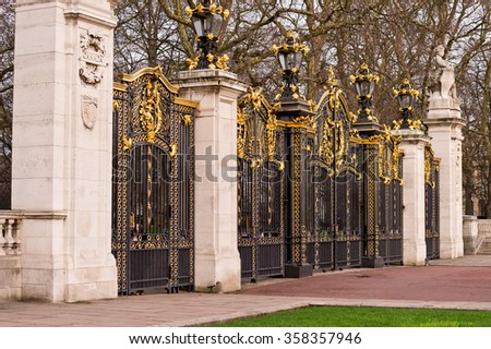 Canada Gate London England at Buckingham Palace