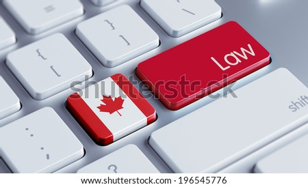 Canada High Resolution Law Concept - stock photo