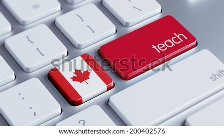 Canada High Resolution Teach Concept - stock photo
