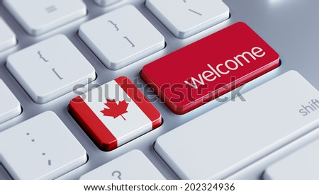 Canada High Resolution Welcome Concept - stock photo