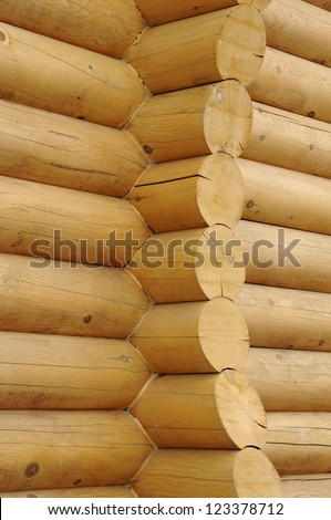 Canada, Quebec , close up of a log cabin in Chaudiere Appalaches - stock photo