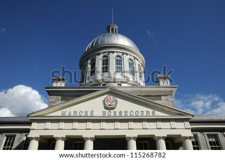 Canada, Quebec, Le Marche Bonsecours in Montreal - stock photo