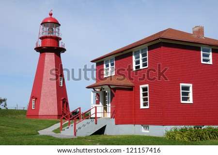Canada, Quebec, the lighthouse of La Martre in Gaspesie