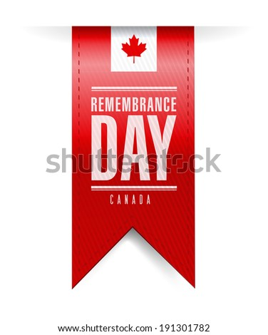 canada remembrance day texture banner illustration design over a white background - stock photo