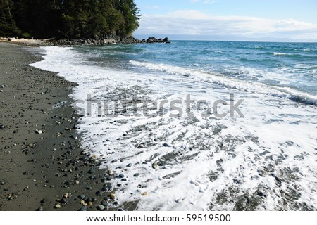 Canada west pacific coast (french beach) in vancouver island, british columbia, canada - stock photo