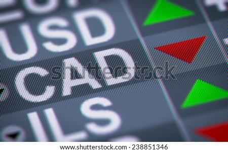 Canadian dollar - stock photo