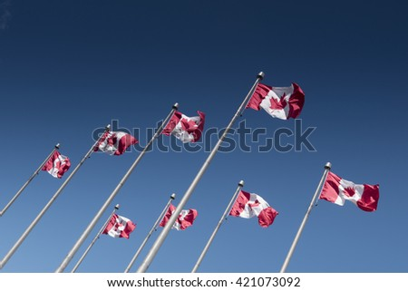 Canadian Flag. Ottawa. Capital. Canada - stock photo