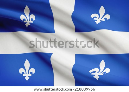 Canadian provinces flags series - Quebec - stock photo