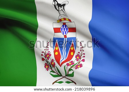 Canadian provinces flags series - Yukon - stock photo