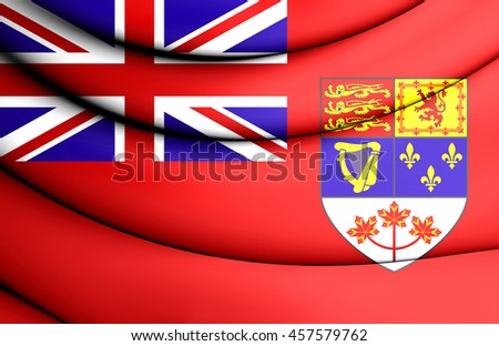 Canadian Red Ensign (1957-1965). 3D Illustration.    - stock photo