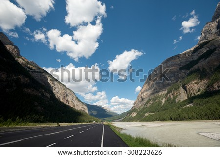 Canadian Rockies in Yoho National Park, British Columbia, Canada - stock photo