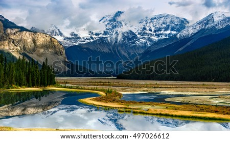 Canadian Rockies landscape in Banff National Park Alberta, Canada.